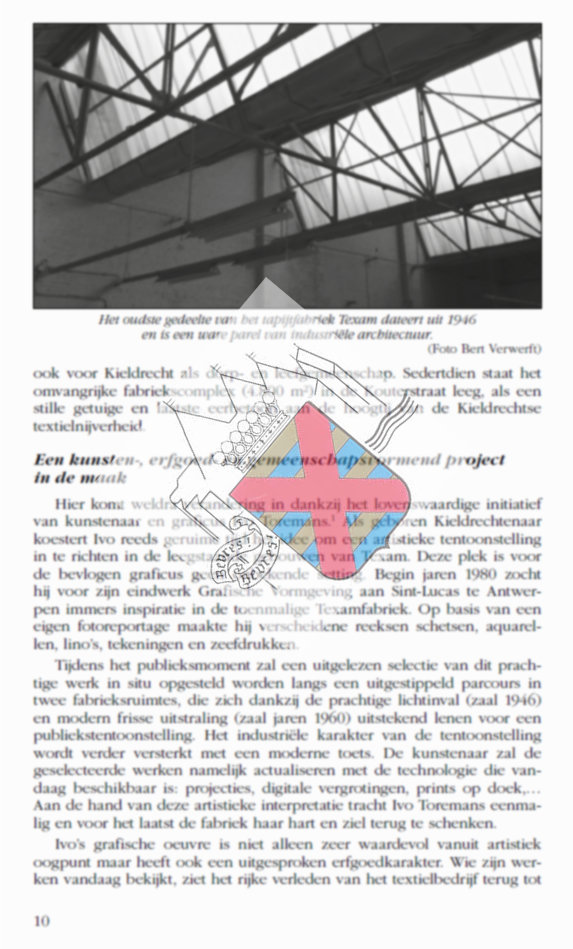 Cover of Erfgoed- en kunstevenement Texam