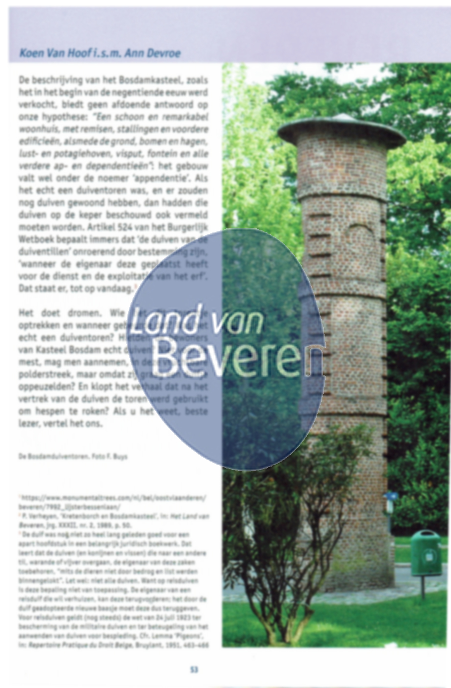 Cover of Beveren in-zicht. De appendentie van kasteel Bosdam